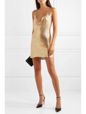 Fannie Schiavoni hailey open-back draped chainmail mini dress