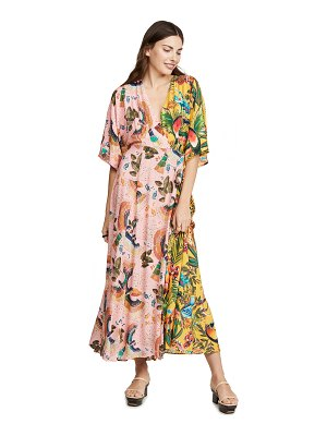 FARM Rio birds in the wild wrap maxi dress
