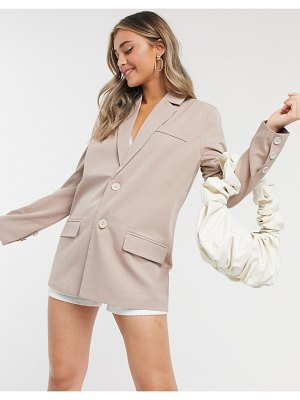 Fashion Union blazer two-piece-beige