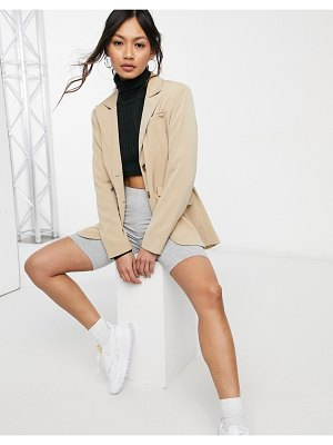 Fashion Union relaxed fit longline blazer with pocket detail