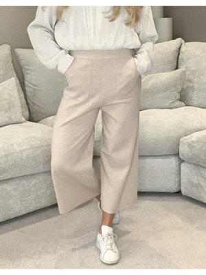 Fashion Union relaxed knitted sweatpants-beige