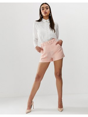 Fashion Union tailored shorts in pinstripe