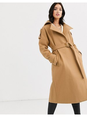 Fashion Union belted wrap coat