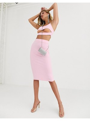 Fashionkilla going out midi skirt in rose