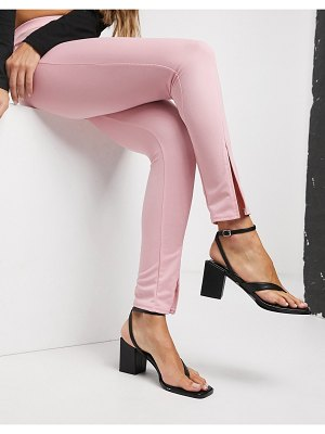 Fashionkilla split front slim pants in pink
