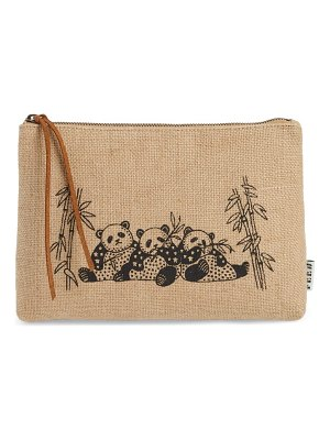 FEED animal zip top burlap pouch