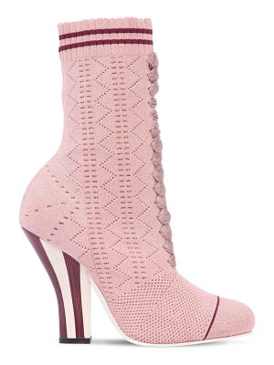 Fendi 105mm stretch lurex knit ankle boots