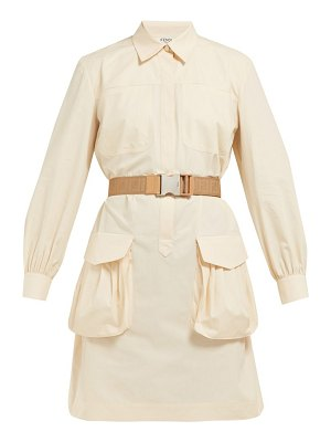 Fendi belted cotton poplin shirtdress