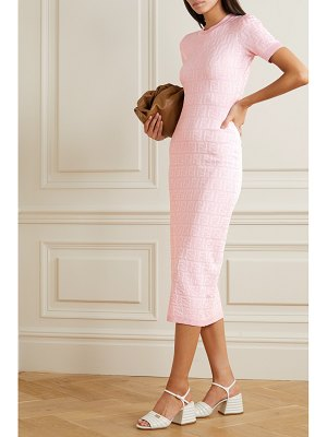 Fendi cotton-blend jacquard midi dress