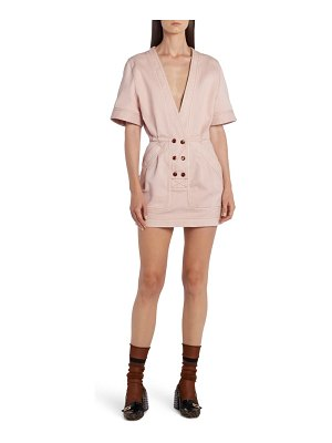 Fendi cotton stretch drill minidress