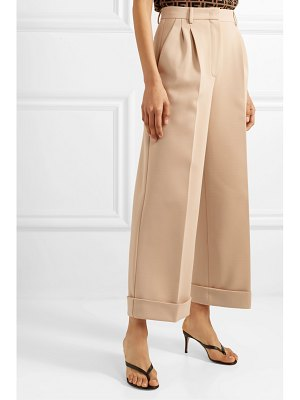 Fendi cropped jersey wide-leg pants