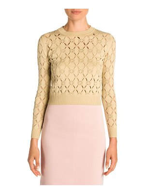 Fendi cutout knit pullover