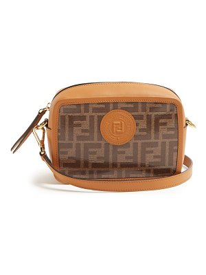 Fendi double f leather mini cross body bag