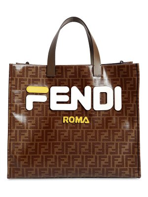 Fendi Fila small coated canvas tote bag