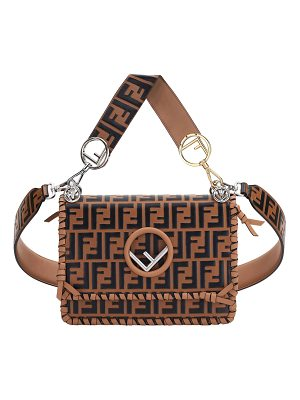 FENDI Kan I Medium Ff Calf Shoulder Bag