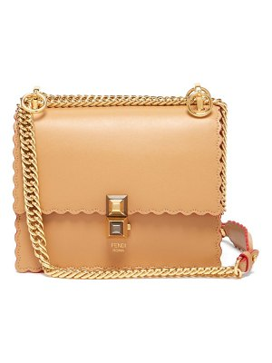 Fendi kan i small leather cross body bag