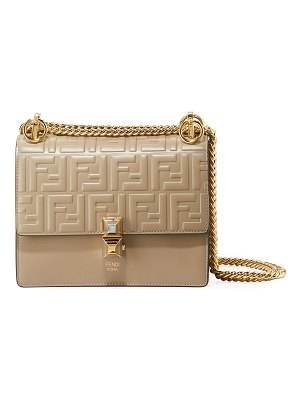 Fendi Kan I Small Liberty FF Embossed Shoulder Bag
