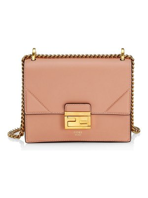Fendi kan u leather shoulder bag