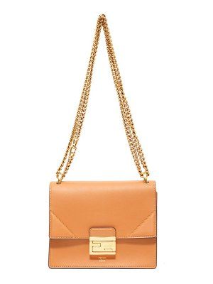 Fendi kan u mini leather cross-body bag