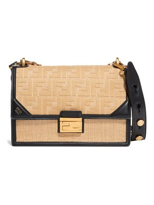 Fendi kan u raffia shoulder bag