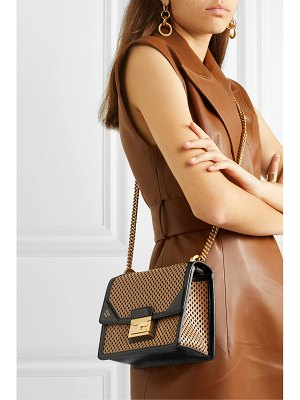 Fendi kanu small perforated leather shoulder bag