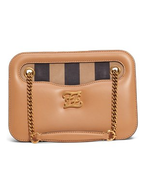 Fendi karligraphy king leather shoulder bag