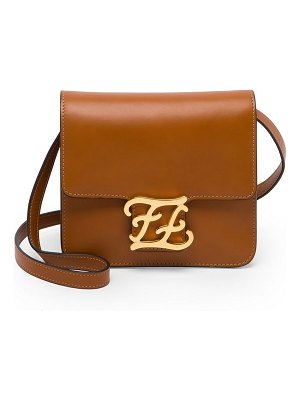 Fendi karligraphy leather crossbody bag
