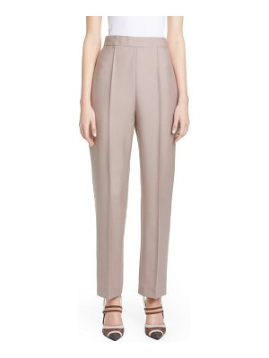 Fendi karligraphy mohair & wool straight leg pants