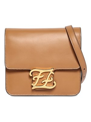 Fendi Karligraphy smooth leather shoulder bag