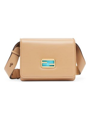 Fendi large leather shoulder bag