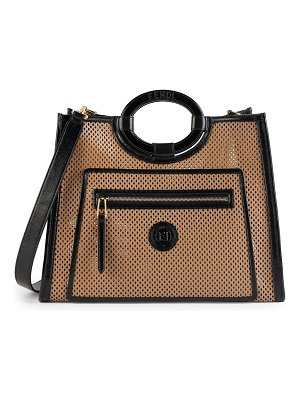 Fendi large runaway perforated leather shopper