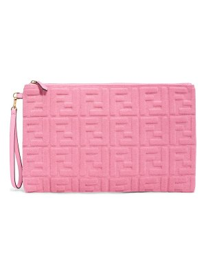 Fendi large tess clutch