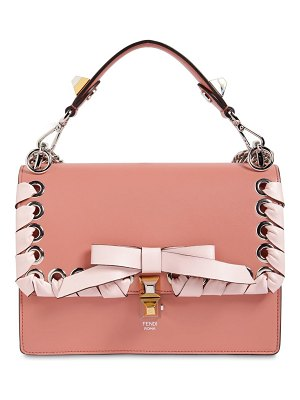 Fendi Medium kan i lace-up leather bag