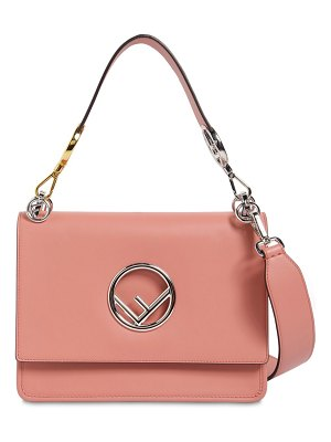 Fendi Medium kan i logo leather bag