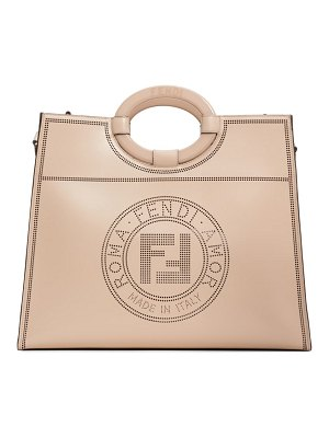 Fendi medium runaway perforated leather shopper