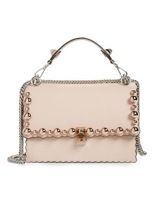 Fendi mini kan i imitation pearl scallop leather shoulder bag