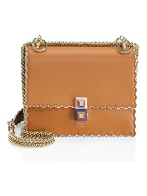 Fendi mini kan scalloped leather bag