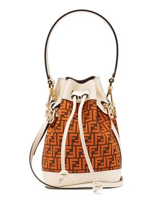 Fendi mon tresor mini ff-logo leather bucket bag