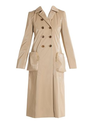 Fendi oversize pocket shiny trench coat