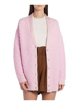 Fendi oversize textured cardigan