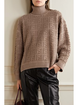 Fendi oversized bouclé turtleneck sweater