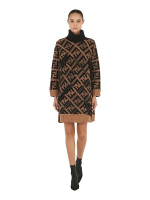 Fendi Oversized wool cashmere knit dress