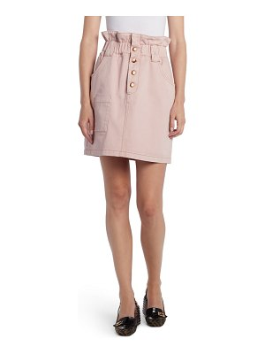 Fendi paperbag waist cotton stretch drill miniskirt