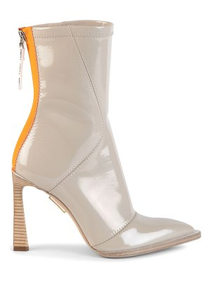 Fendi patent neoprene ankle boots