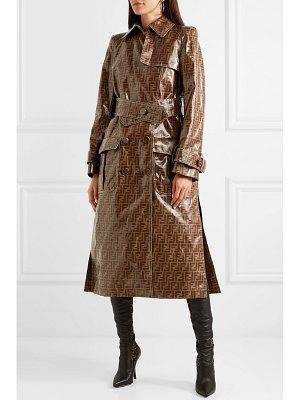Fendi printed vinyl trench coat