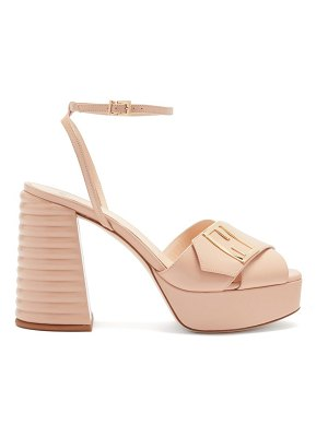 Fendi promenade cross-strap leather platform sandals