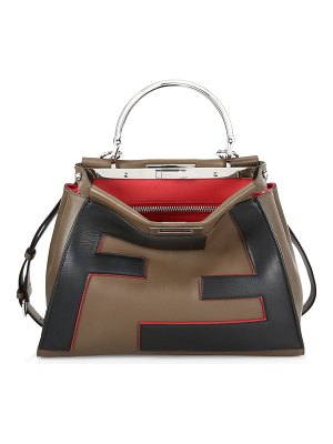 Fendi regular peekaboo leather satchel
