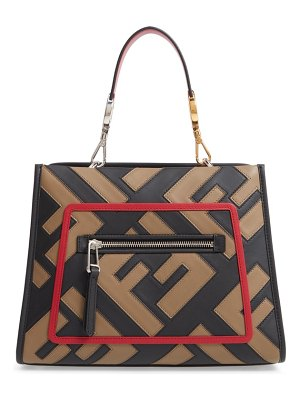 Fendi runaway century mix calfskin leather satchel