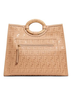 Fendi runaway double-f logo leather shopper