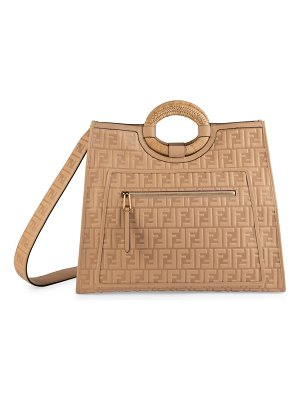 Fendi runaway embossed leather shopper